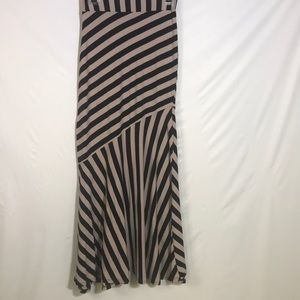 Monteau striped maxi skirt